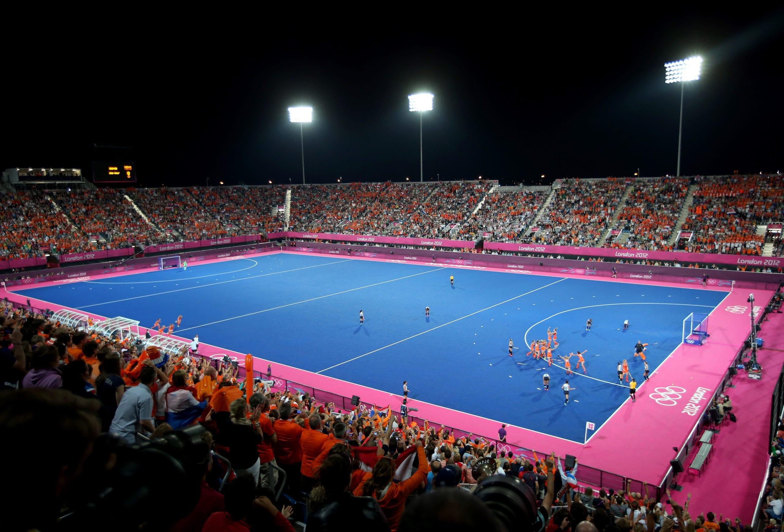 Hockey stadium Olympic Games 2012 London.