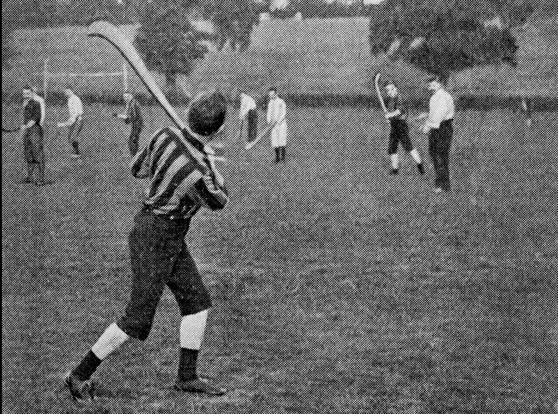 Antique photograph of Irish Hurling
