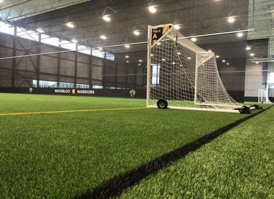 University of Waterloo Fieldhouse Polytan Ligaturf RS+ 240 ACS 65 with sand & EPDM R infill