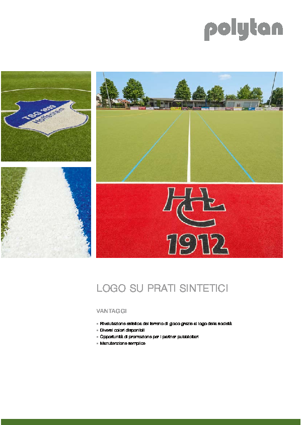 Logos on synthetic turf